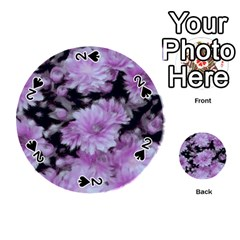 Phenomenal Blossoms Lilac Playing Cards 54 (Round)
