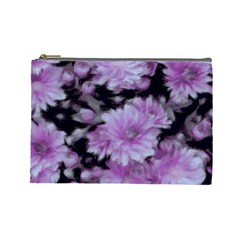 Phenomenal Blossoms Lilac Cosmetic Bag (Large)