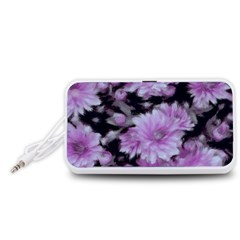 Phenomenal Blossoms Lilac Portable Speaker (White)