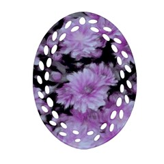 Phenomenal Blossoms Lilac Oval Filigree Ornament (2 Side)