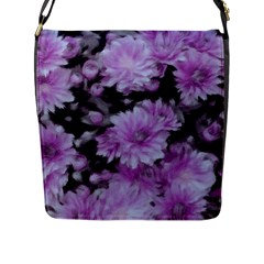 Phenomenal Blossoms Lilac Flap Messenger Bag (L)