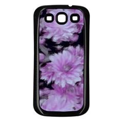 Phenomenal Blossoms Lilac Samsung Galaxy S3 Back Case (Black)