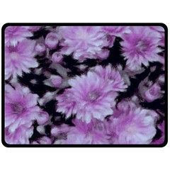 Phenomenal Blossoms Lilac Double Sided Fleece Blanket (Large)