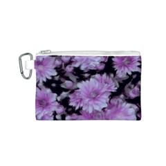 Phenomenal Blossoms Lilac Canvas Cosmetic Bag (S)