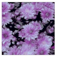 Phenomenal Blossoms Lilac Large Satin Scarf (Square)