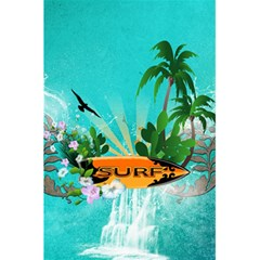 Surfboard With Palm And Flowers 5.5  x 8.5  Notebooks