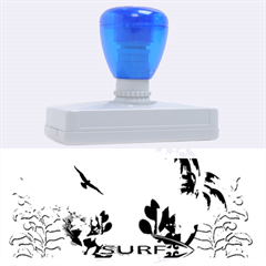 Surfboard With Palm And Flowers Rubber Address Stamps (xl)