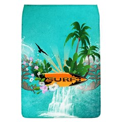 Surfboard With Palm And Flowers Flap Covers (L)