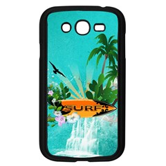 Surfboard With Palm And Flowers Samsung Galaxy Grand DUOS I9082 Case (Black)