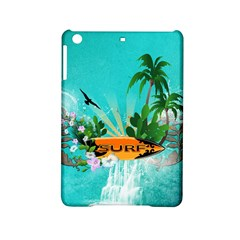 Surfboard With Palm And Flowers iPad Mini 2 Hardshell Cases