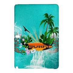 Surfboard With Palm And Flowers Samsung Galaxy Tab Pro 10.1 Hardshell Case