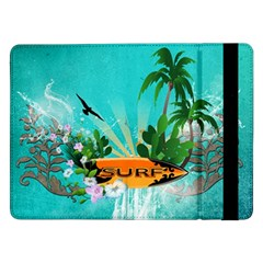 Surfboard With Palm And Flowers Samsung Galaxy Tab Pro 12.2  Flip Case