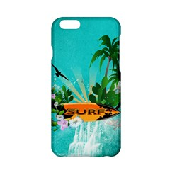 Surfboard With Palm And Flowers Apple iPhone 6/6S Hardshell Case