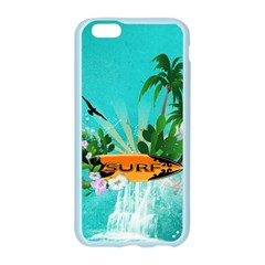 Surfboard With Palm And Flowers Apple Seamless iPhone 6/6S Case (Color)
