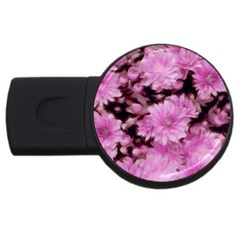 Phenomenal Blossoms Pink USB Flash Drive Round (4 GB)