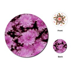 Phenomenal Blossoms Pink Playing Cards (Round)