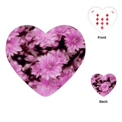 Phenomenal Blossoms Pink Playing Cards (Heart)