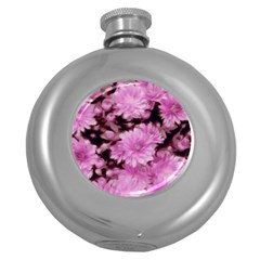 Phenomenal Blossoms Pink Round Hip Flask (5 oz)