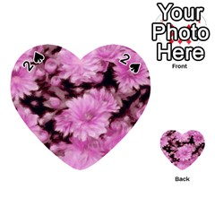 Phenomenal Blossoms Pink Playing Cards 54 (Heart)