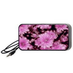 Phenomenal Blossoms Pink Portable Speaker (Black)