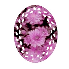 Phenomenal Blossoms Pink Ornament (oval Filigree)