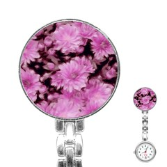 Phenomenal Blossoms Pink Stainless Steel Nurses Watches