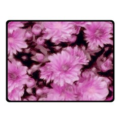 Phenomenal Blossoms Pink Double Sided Fleece Blanket (small)