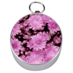 Phenomenal Blossoms Pink Silver Compasses