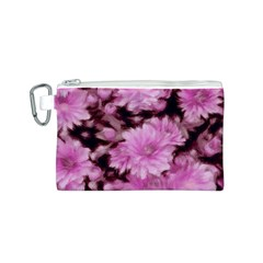 Phenomenal Blossoms Pink Canvas Cosmetic Bag (S)