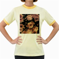 Phenomenal Blossoms Soft Women s Fitted Ringer T Shirts