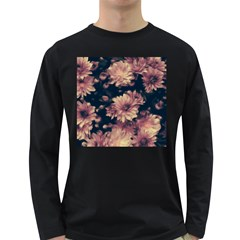 Phenomenal Blossoms Soft Long Sleeve Dark T-Shirts
