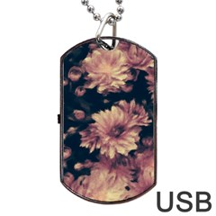 Phenomenal Blossoms Soft Dog Tag Usb Flash (one Side)