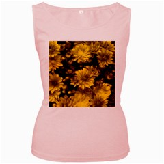 Phenomenal Blossoms Yellow Women s Pink Tank Tops