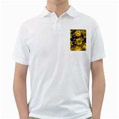 Phenomenal Blossoms Yellow Golf Shirts
