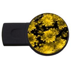 Phenomenal Blossoms Yellow USB Flash Drive Round (2 GB)