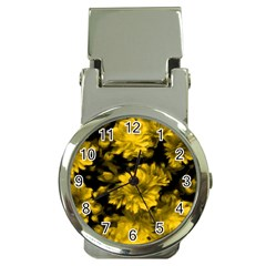 Phenomenal Blossoms Yellow Money Clip Watches