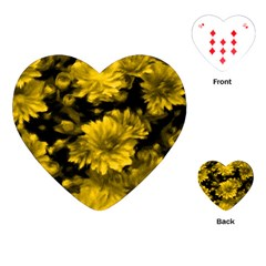 Phenomenal Blossoms Yellow Playing Cards (Heart)