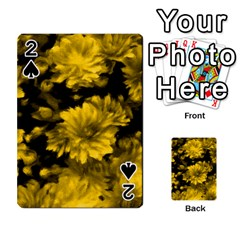 Phenomenal Blossoms Yellow Playing Cards 54 Designs