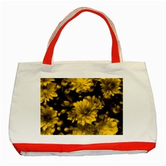 Phenomenal Blossoms Yellow Classic Tote Bag (Red)