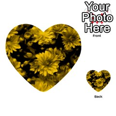 Phenomenal Blossoms Yellow Multi-purpose Cards (Heart)