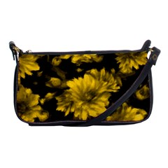 Phenomenal Blossoms Yellow Shoulder Clutch Bags