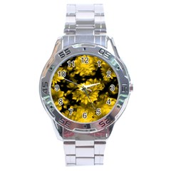 Phenomenal Blossoms Yellow Stainless Steel Men s Watch