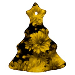 Phenomenal Blossoms Yellow Christmas Tree Ornament (2 Sides)