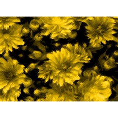 Phenomenal Blossoms Yellow Birthday Cake 3D Greeting Card (7x5)