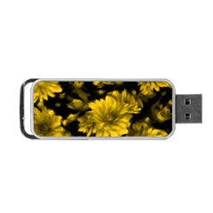 Phenomenal Blossoms Yellow Portable Usb Flash (two Sides)