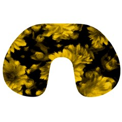 Phenomenal Blossoms Yellow Travel Neck Pillows