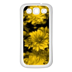Phenomenal Blossoms Yellow Samsung Galaxy S3 Back Case (White)