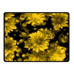 Phenomenal Blossoms Yellow Double Sided Fleece Blanket (Small)