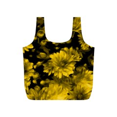 Phenomenal Blossoms Yellow Full Print Recycle Bags (S)