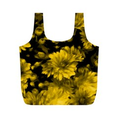 Phenomenal Blossoms Yellow Full Print Recycle Bags (M)